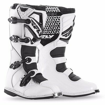 Fly Racing Maverik Boots 2016 White Adult Motocross MX Dirtbike SIZE 9