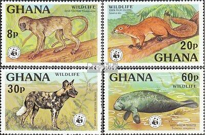 ghana 702A-705A neuf avec gomme originale 1977 Animaux