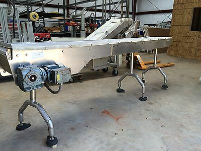 12 inch Wide x 9 feet Long Stainless Steel Conveyor W/ Variable Speed Drive
