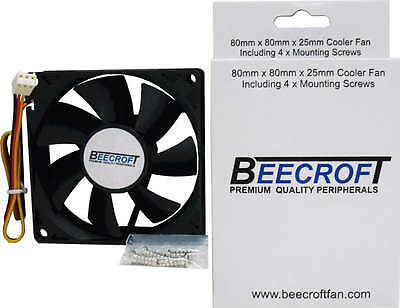 80mm Computer Cooling Fan w/Quiet-Quality Ball Bearing.3 Pin Connector to MB NEW