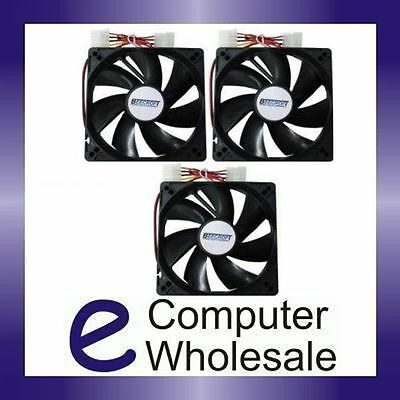 3 x New 12cm 120mm Quiet PC Computer Case Cooling Fan 12V Cool Air 120 mm 12 cm