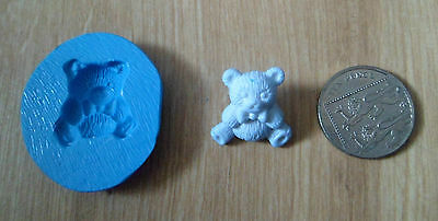New Silicone  Baby Teddy Bear Mould Mold Sugarcraft Decorating Cake Fimo Clay
