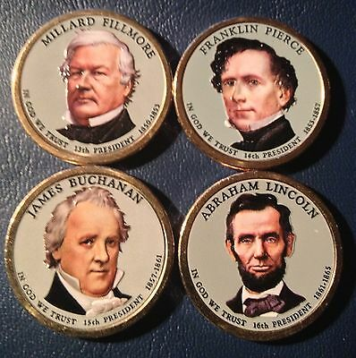 Colorized 2010 Presidential Dollar Set - Front Only