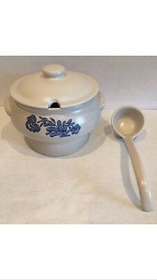 Large Pfaltzgraff Yorktowne Blue Soup Tureen with Lid and Ladle