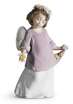 New Lladro #6924 Heavenly Stars Child Angel Brand New In Box Free Shipping!!