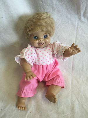"""Vintage 9"""" Syndee Doll """"Tammy"""" Baby Doll Cloth Body Has Freckles And Teeth GUC"""