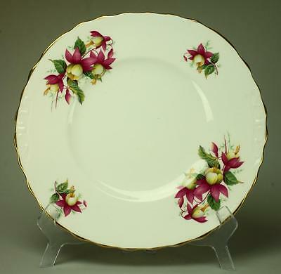 Vintage 1960's Royal Vale Pink Fuchsias Cake, Sandwich or Serving Plate KC182