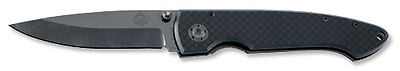 PUMA TEC ONE-HAND CERAMIC BLADE FOLDING KNIFE / CARBON w. BELT CLIP / 7277411