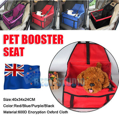 HOT 4 Colours Car Pet Booster Seat Dog Puppy Carrier Adjustable Strap Travel Bag