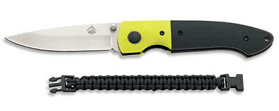 Puma Tec One-Hand Yellow Folding Knife + Paracord Bracelet / Belt Clip / 7334311