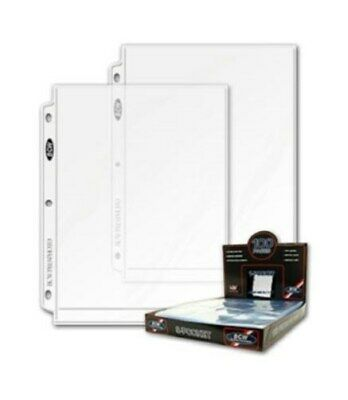 Lot of 50 BCW 1-Pocket 8x10 Photo Album Pages 8 x 10 3-ring binder sheets