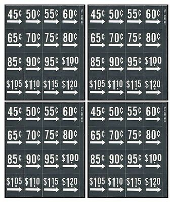 Price labels - 4 sheets, 64 labels, fits Dixie Narco, Vendo soda