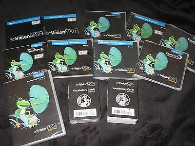 NEW Lot of 10 California Envision Math CDs & Vocabulary Cards Second Grade 2nd