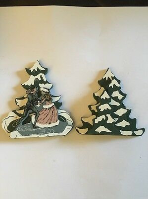 Shelia's Collectibles Wood Wooden Houses Trees