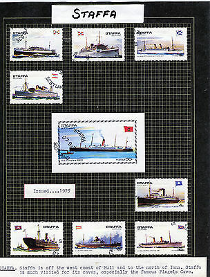 STAMPS.  British Locals  '' Staffa''