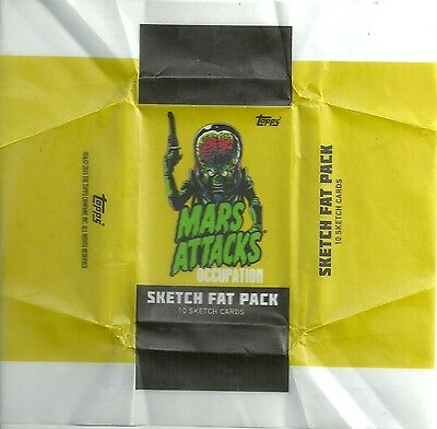 2016 Topps Mars Attacks Occupation - Sketch Fat Pack Wrapper (No Cards Included)
