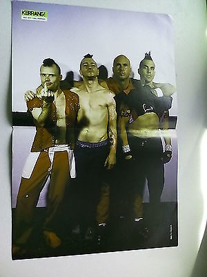 Red Hot Chilli Peppers  Anthony Kiedis  Double Page Double Sided Poster (LMF25)