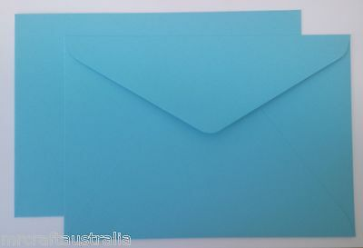 20 Envelopes 130mm x185mm Mid Blue Quality fits 5 x 7 inch fits PHOTO 120gsm