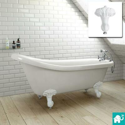 Traditional White Bathroom Luxury Freestanding Roll Top Bath Tub Ball Claw Feet