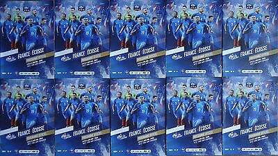 10 x official programme VIP 4/6/2016 France vs Scotland