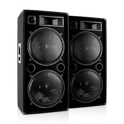 PA Speakers DJ Hi Fi Pair 15 Inch Subwoofer Disco Party Club Event 3-Way 3000W