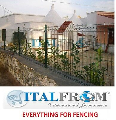 fence panel wire mesh electro welded green railings panel 200cm various heights