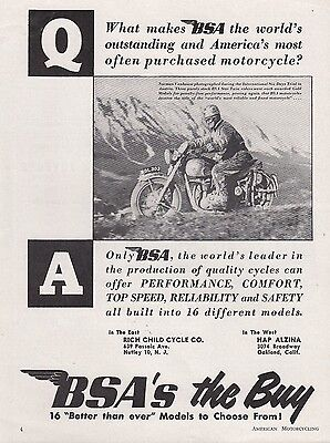1952 BSA Motorcycle Ad: Norman Vanhouse on BSA Star Twin in Austria 6-Days Trial