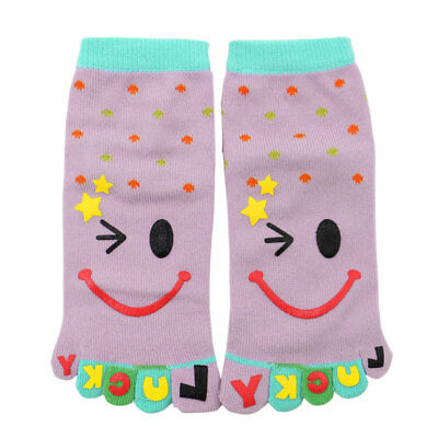 Child Polka Dots Prints Stretchy Ankle Length Toe Socks 8-9.5
