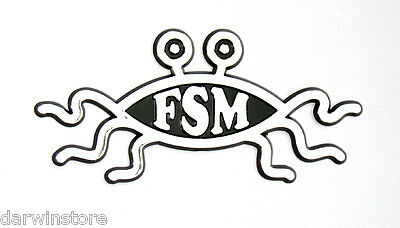 FSM Flying Spaghetti Monster Pastafarian car BADGE