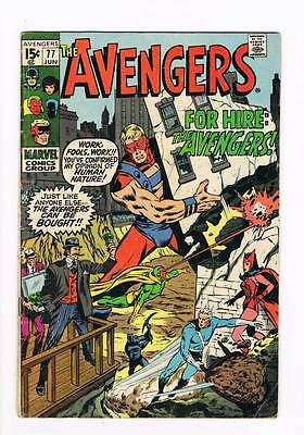 Avengers # 77  Avengers for Hire ! grade 4.5 scarce hot book !!