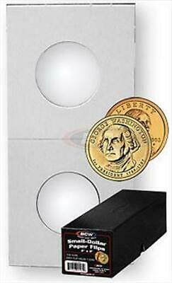 50 2x2 SACAGAWEA Dollar Mylar Cardboard Coin Holder Storage Flip BCW 26.5mm Case