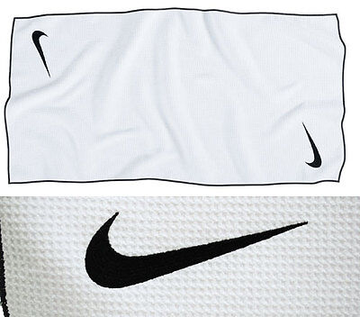 Nike Tour MicroFiber Towel - White/Black
