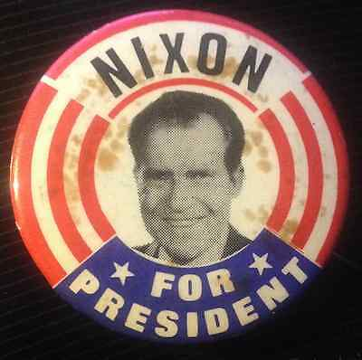 """1960 1 3/4"""" """"nixon For President Picture Pin Back"""