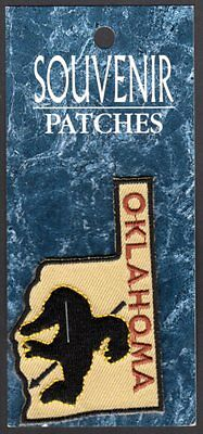 "Oklahoma Souvenir Patch  New=on card 1-3/4"" x 2-3/4"" "" Trail of Tears"""