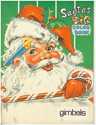 Vintage 1950s Gimbels Department Store Milwaukee Child's Santa's Coloring Book