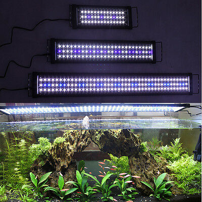 4ft/3ft/2ft/1ft Blue White Aquarium LED Lamp Lights Coral Fish Tank LED Light