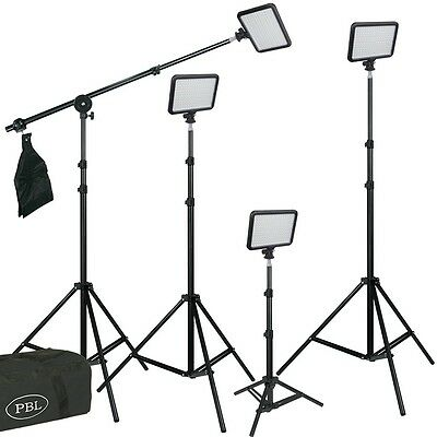 Triopo 204 Led Set Of 4 Photo Video Camcorder Light Ships From Us