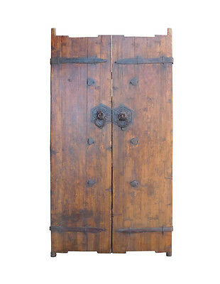 Chinese Vintage Iron Hardware Door Gate Wall Panel cs1368