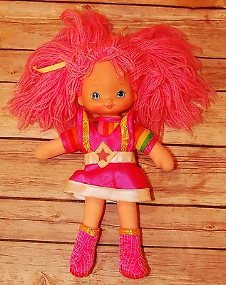 Vintage 1983 Rainbow Brite Tickled Pink Doll Hallmark Cards Mattle