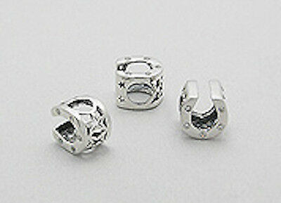 """0.35/"""" Solid Sterling Silver Dice Bead Bracelet /& Necklace Focal Bead 0.8g"""