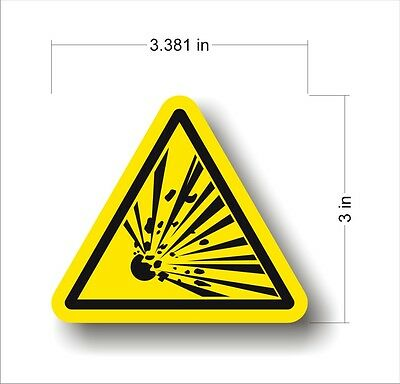 Industrial Safety Decal Sticker caution EXPLOSIVE explosion warning label