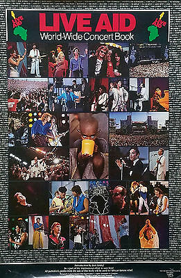 Live Aid 1985 World-Wide Concert Book Promo Poster Madonna Bowie