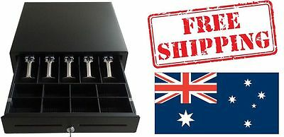 Metal Electronic CASH DRAW/BOX/DRAWER Lockable POS Shop 5 x Notes,8 x Coins