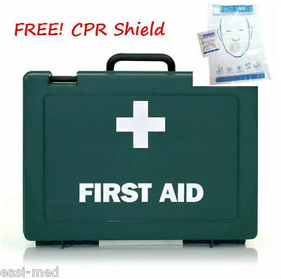 10 Person HSE Workplace First Aid Kit **PLUS FREE CPR MOUTH SHIELD**