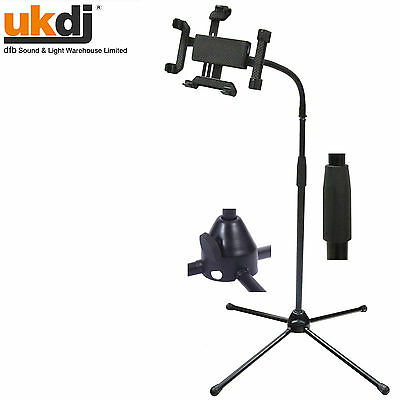 "NJS Adjustable Floor Tripod Ipad 1 2 3 4 / Samsung Galaxy Tablet Stand (7""/10"")"