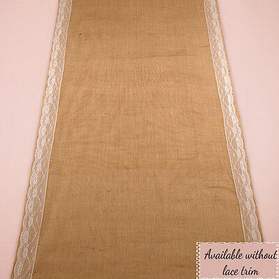 BURLAP and LACE rustic aisle runner for your perfect Rustic Wedding