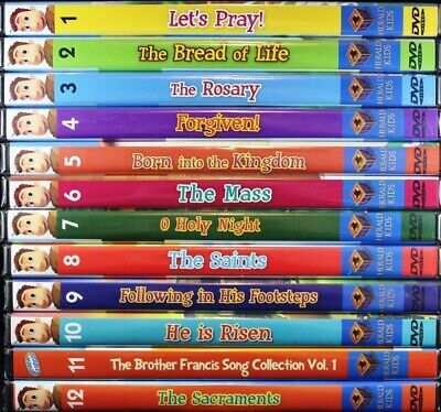 Brother Francis Collection Series 1-12 Let's Pray Mass Saints JoyToons NEW DVDs
