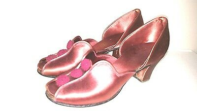 Vintage Daniel Green D'orsay Comfy Slippers FREE SHIPPING