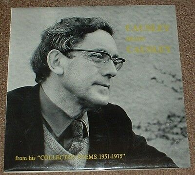 CHARLES CAUSLEY causley reads causley 1975 UK SENTINEL STEREO VINYL LP