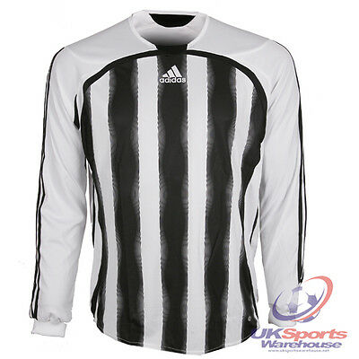 adidas Aquilla Climacool Long Sleeved Football Shirt Jersey rrp£25 Black/White